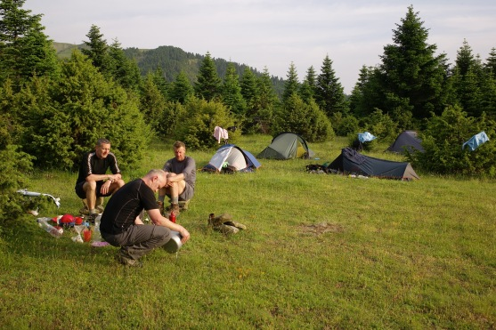 Camping near Kokália obelisk