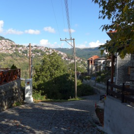 Anílio: start of path to Métsovo